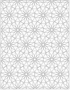 crochet blanket line drawing