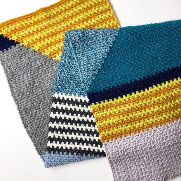 Happy Scrappy crochet scarf