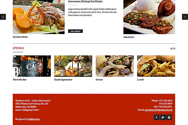 Mambos Bottom Landing Page