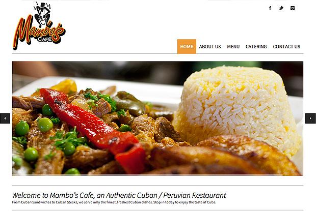 Mambos Top Landing Page