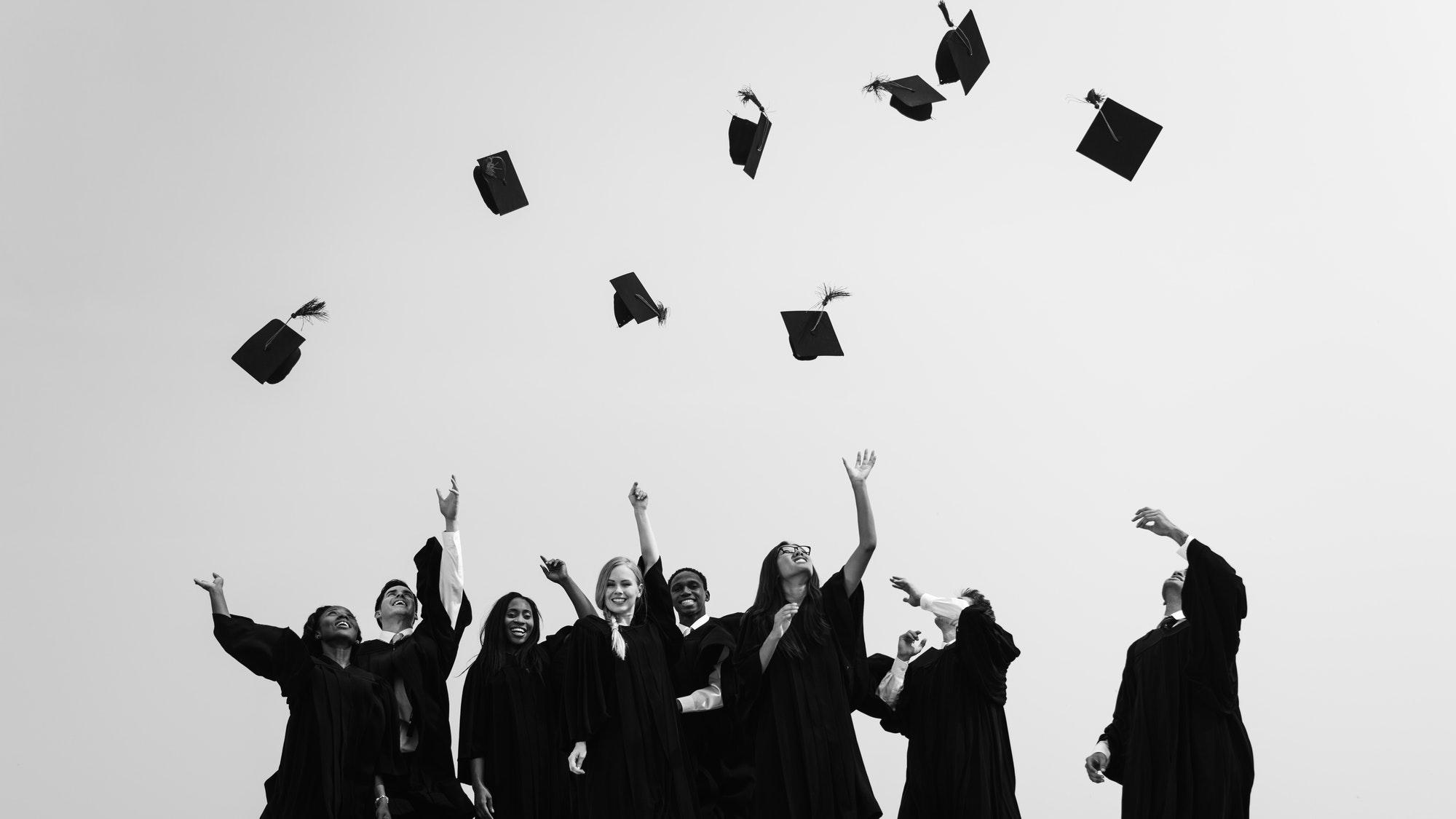 Successful Masters PHD Graduation College Concept