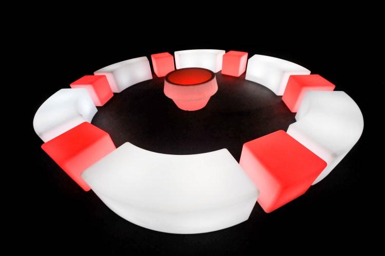 puffs de led para decorar espaço de eventos