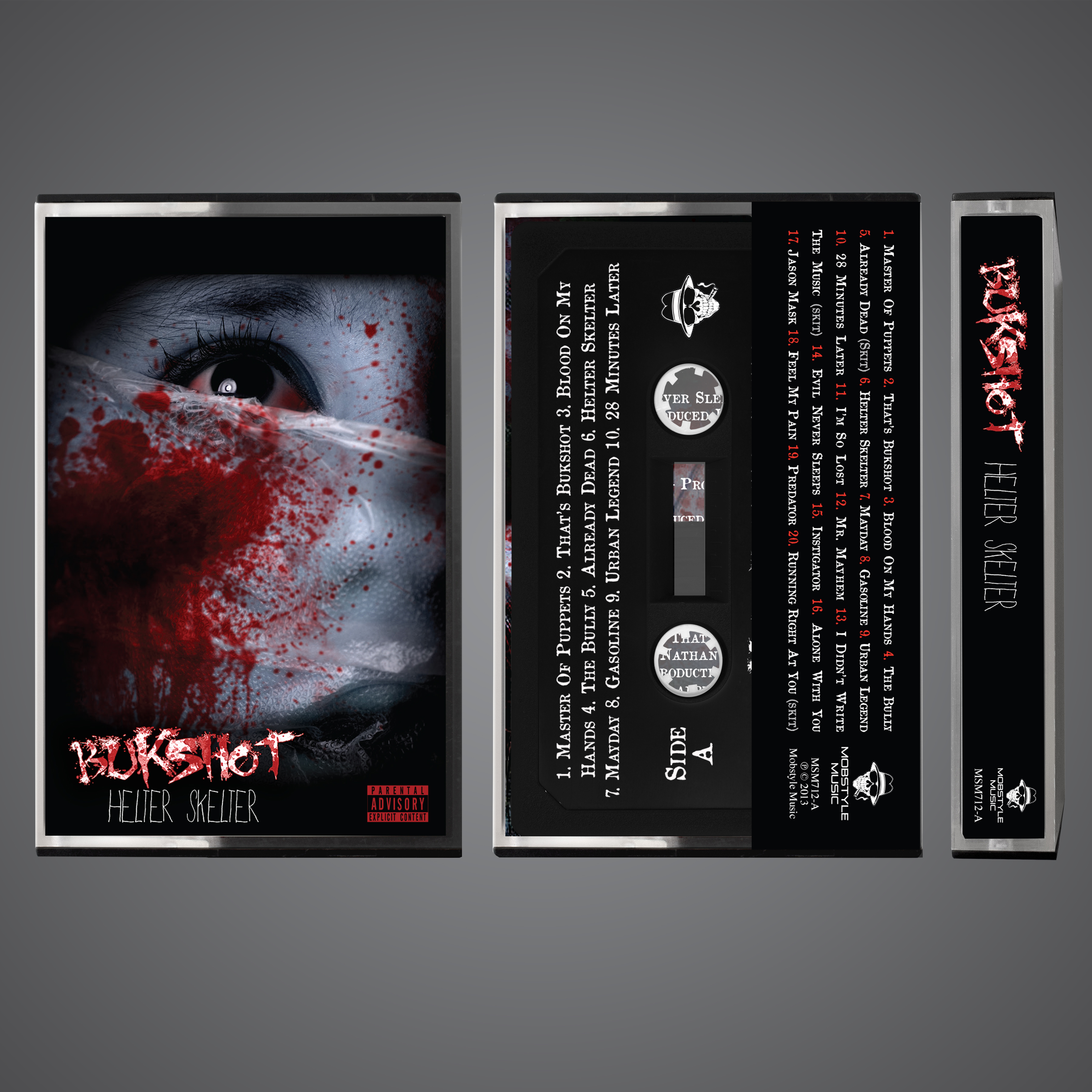 "Bukshot ""Helter Skelter"" OG Cassette Tape! Limited To 100!"