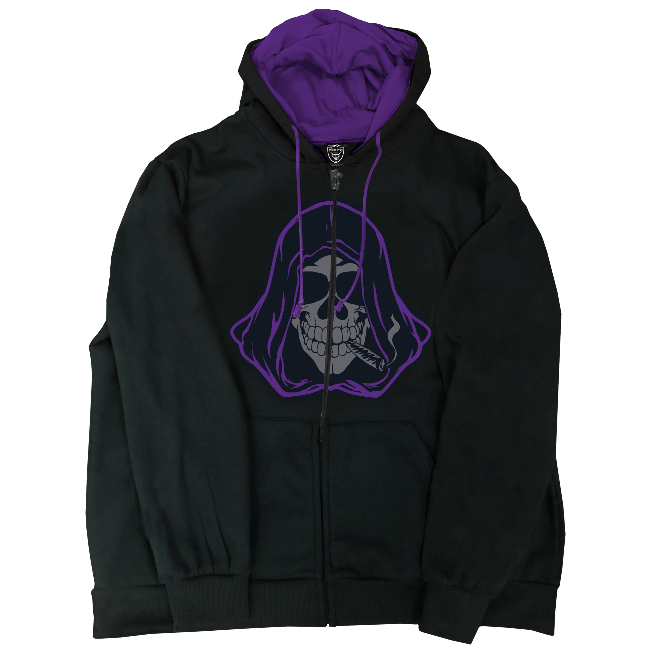 Cloaking Joe Embroidered Zip Up Hoodie