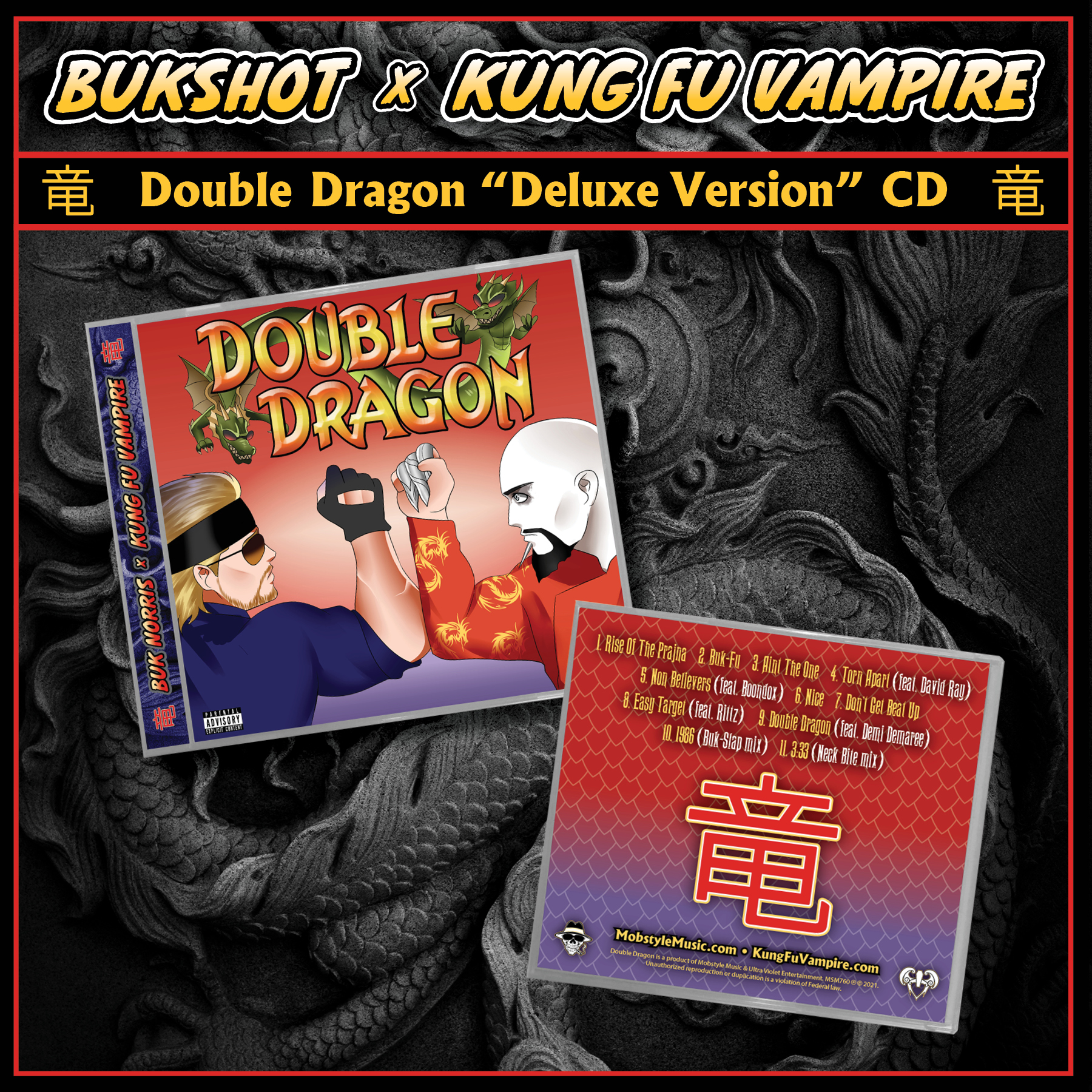 "Bukshot & Kung Fu Vampire ""Double Dragon"" Deluxe Version (CD Only)"