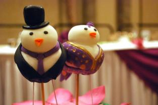 Colorful Bird Cake Toppers