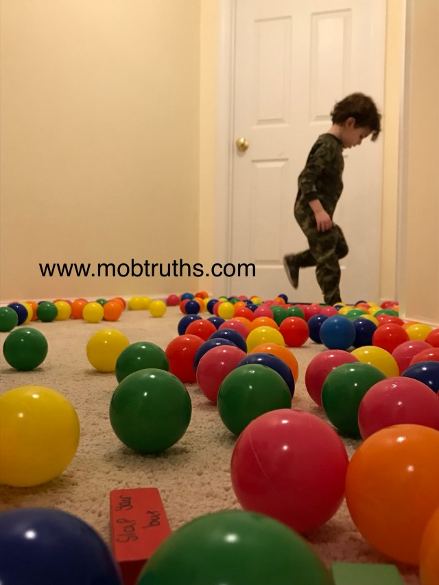 Fun in the ball pit, or outside of it