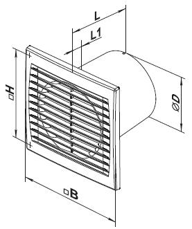 Вентилатор VENTS 100 ST