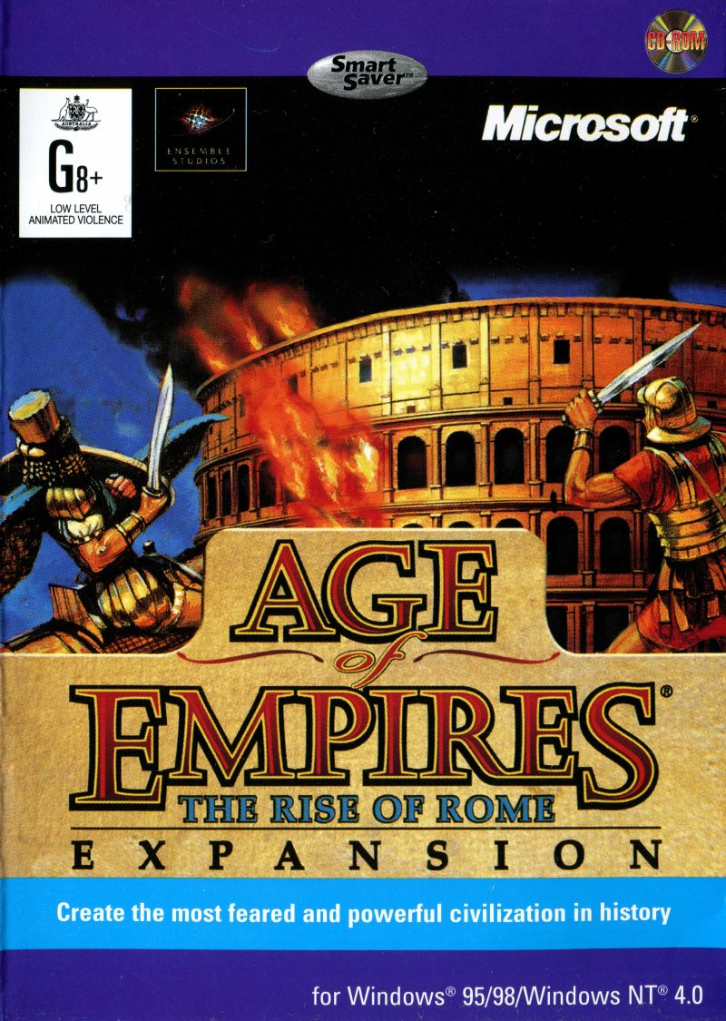 Age Of Empires: The Rise Of Rome : empires:, Empires:, (1998), Windows, Cover, MobyGames