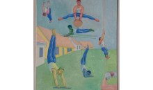 Gymnasts, 1996Oil on canvas, 30 x 24 inches (76.2 x 60.96 cm)Gift of David M. Rohn in honor of Bonnie and Jim Clearwater