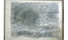 From the Sea, the Wave After Courbet, 1984Mixed media on paper, 66 x 90 inches (167.64 x 228.6 cm)Gift of Joan and Roger Sonnabend