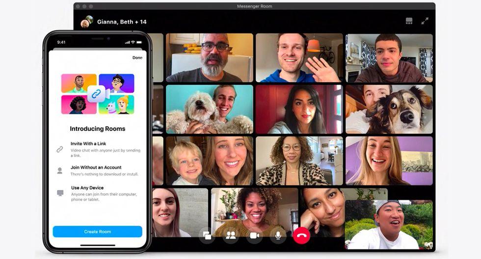 Cómo funciona Messenger Rooms, el servicio de videollamadas de Facebook