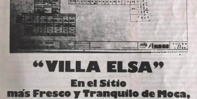 1977: Anuncio Urbanización Villa Elsa, Moca