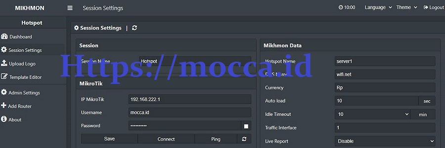 mikhmon login API