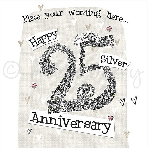personalised happy silver anniversary