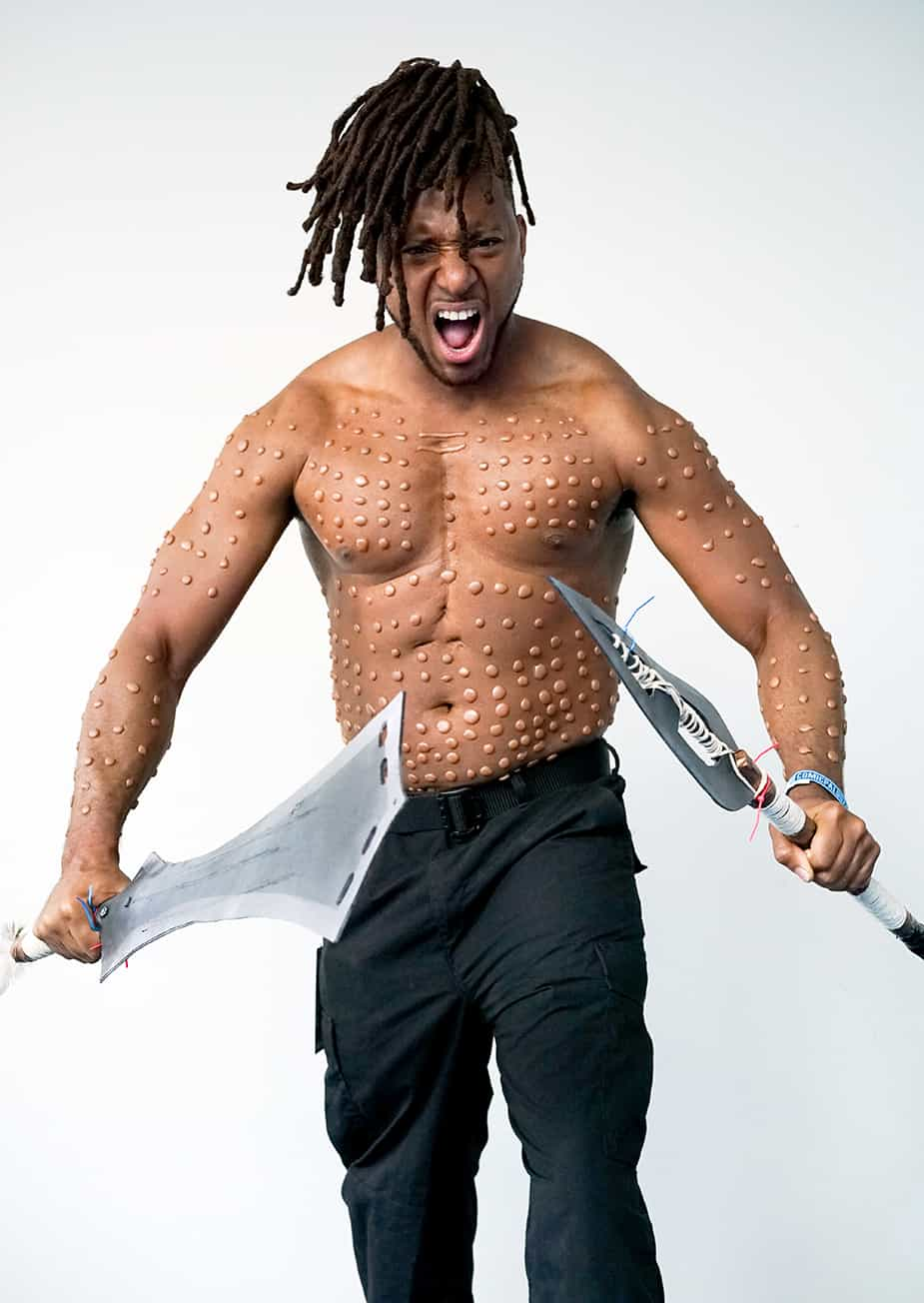 african american cosplayers at
