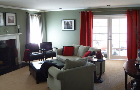 green and red living room ideas black white design for choosing an accent color mochi home