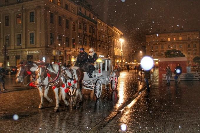 Neve em Cracóvia