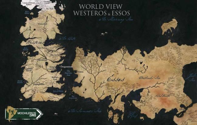 mapa de game of thrones (juego de tronos) lugares donde se filmo