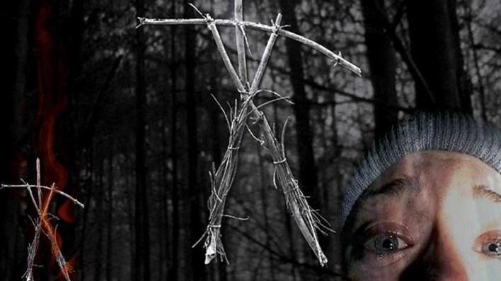 horror de viajes. mochileros en el bosque