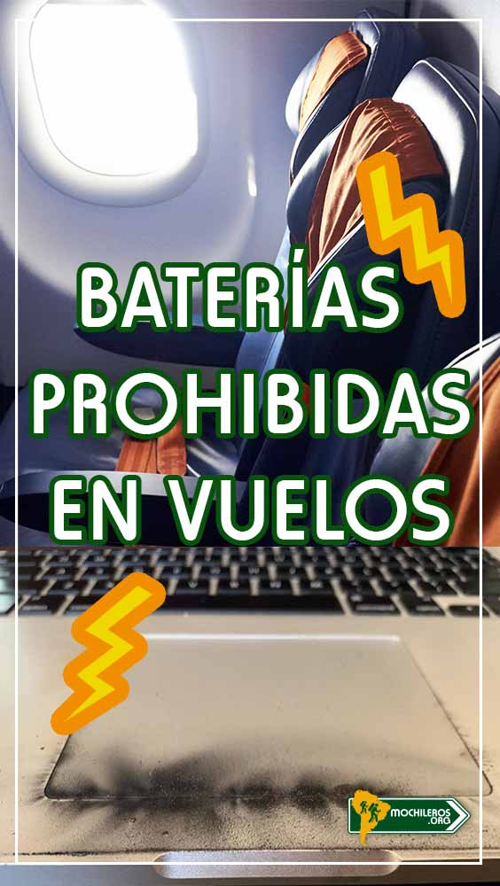 Baterías prohibidas en vuelos: Power bank Macbook Pro - Mochileros.org