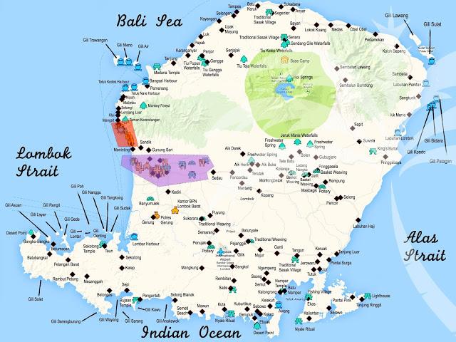 Lombok las gili secretas del este mochileros 20 secret gili map gumiabroncs Image collections