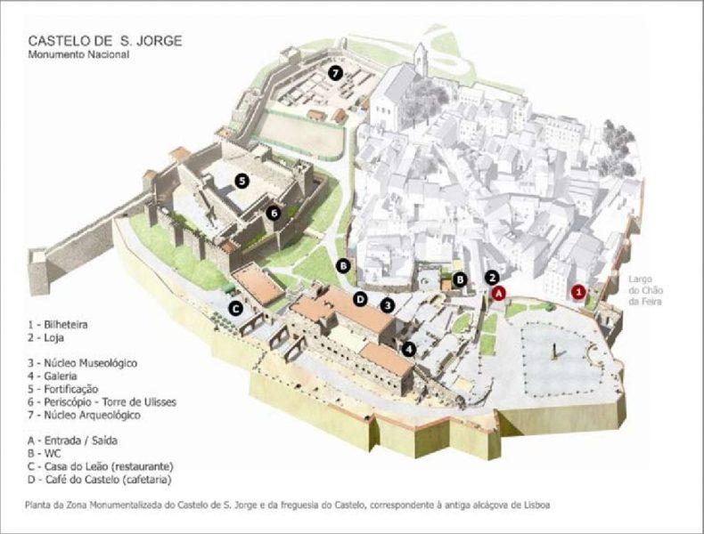 mapa castillo san jorge lisboa