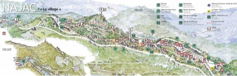 mapa najac