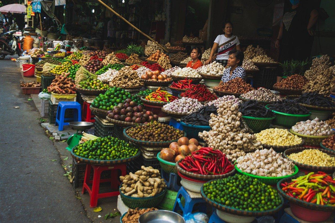 Mercado tradicional en Da lat