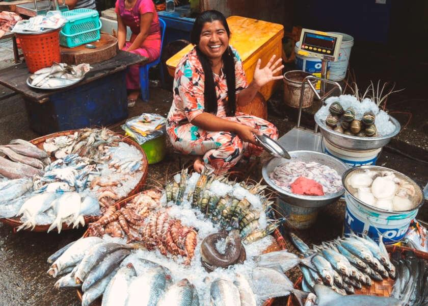 comida en birmania guia de viaje