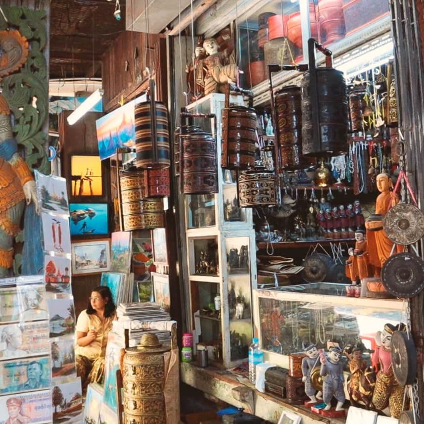Yangon que ver y hacer Myanmar Mercado Bogyoke