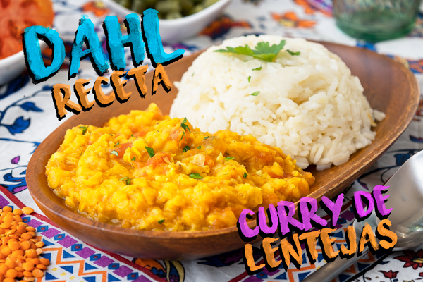 Receta curry indio Lentejas