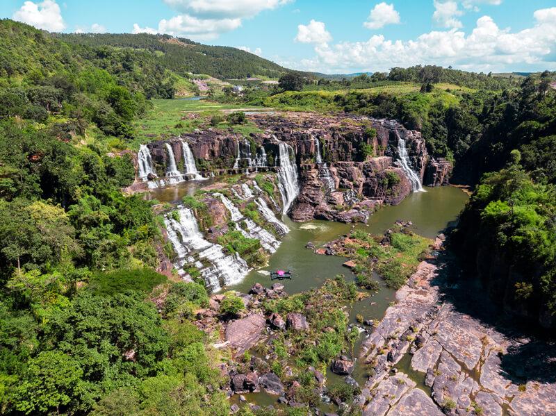 Da lat Vietnam Pongour cascadas Drone
