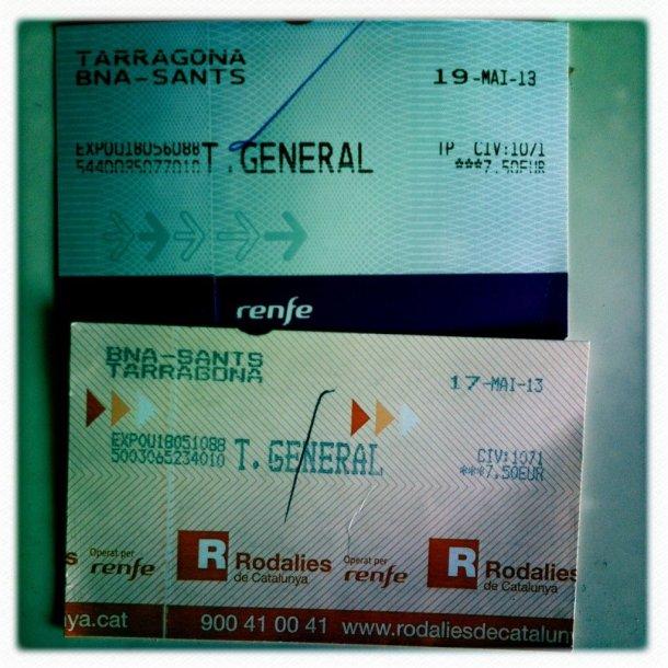 Regional Express Renfe Billete