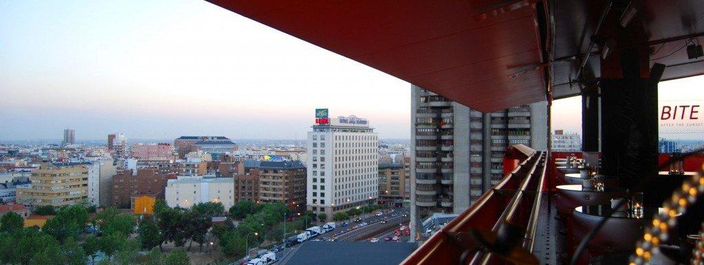 Madrid-terrazas-vistas-panorámicas-Hotel-Silken-Puerta-America