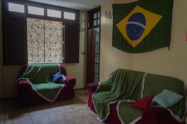 Tijuana Hostel Sao Luis salón sofás