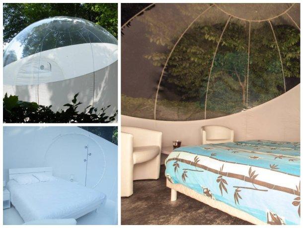 burbuja glamping en los campings de lujo