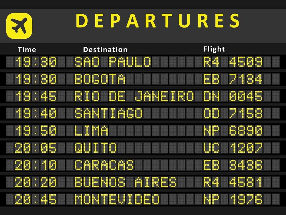 Paneles informativos del aeropuerto y como llegar del aeropuerto de Lima al centro
