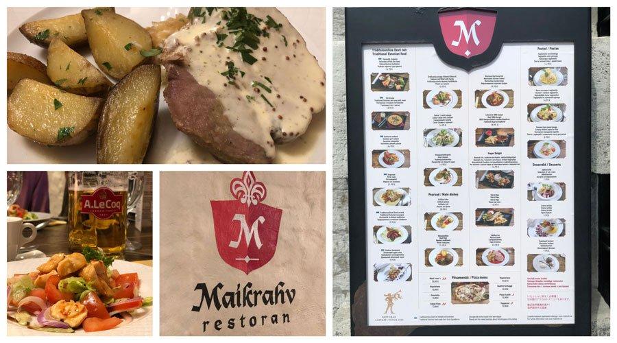 Restaurante Maikrahv, uno de los sitios donde comer y beber en Tallin