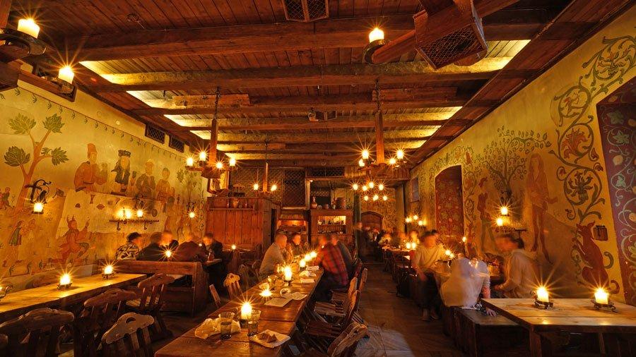 Interior del comedor de Olde Hansa