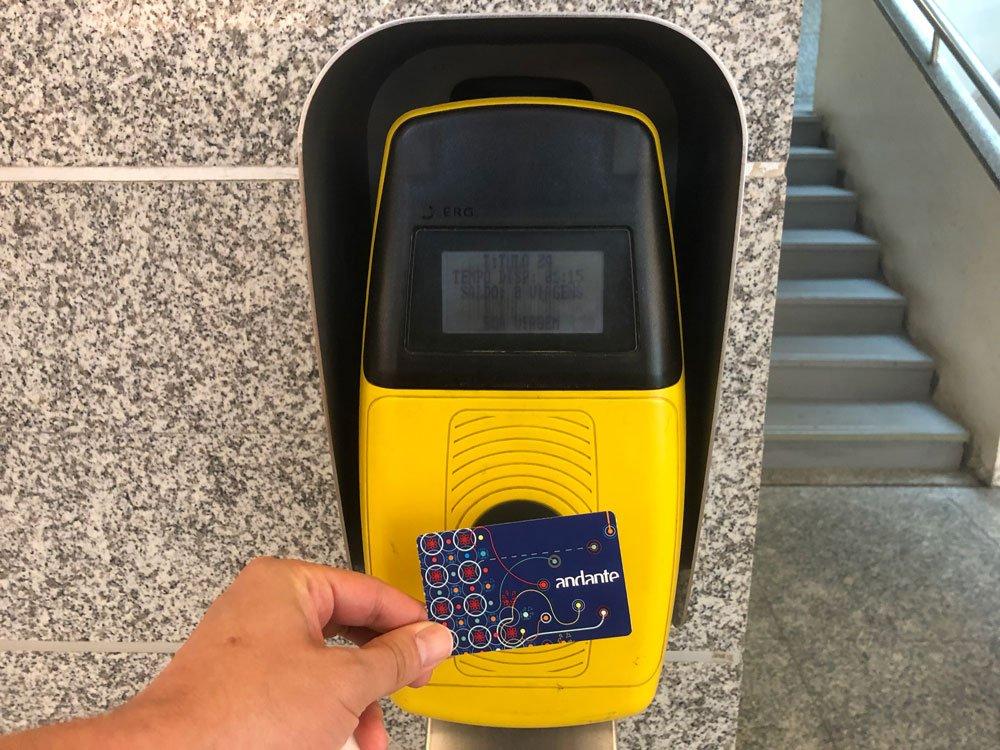 Tarjeta Andante del metro de Oporto