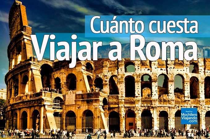 Cuánto cuesta viajar a roma italia