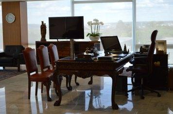 A mesa presidencial