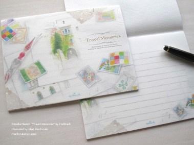 便箋・トラベル メモリーズ・日本ホールマーク/ 原画 望月麻里 Travel Memories by Hallmark. Illustrated by Mari Mochizuki 【No.687557:450JPY・450円 】