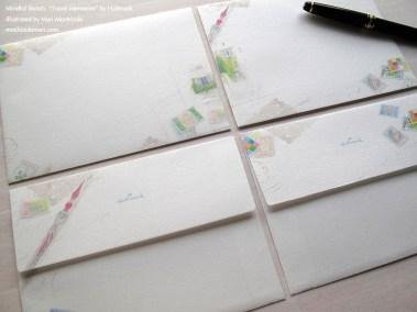封筒・トラベル メモリーズ・日本ホールマーク/ 原画 望月麻里 Travel Memories by Hallmark. Illustrated by Mari Mochizuki 【No.687588:300JPY・300円 】