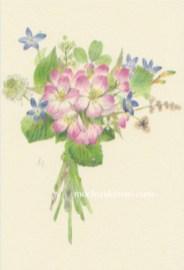 「春・雪国にて」望月麻里(鉛筆、色鉛筆)illustrated by Mari Mochizuki