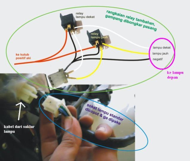 HOWTO: Memasang Relay untuk Lampu Motor | DO & SHARE