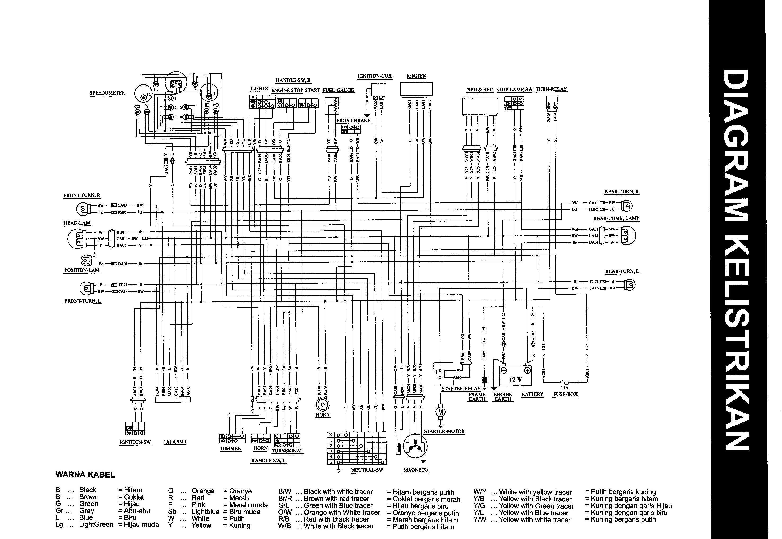 medium resolution of wiring diagram suzuki hayate 125