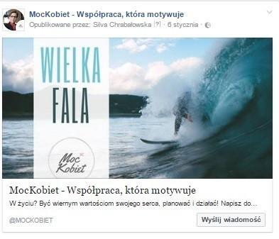reklama na facebooku moc kobiet