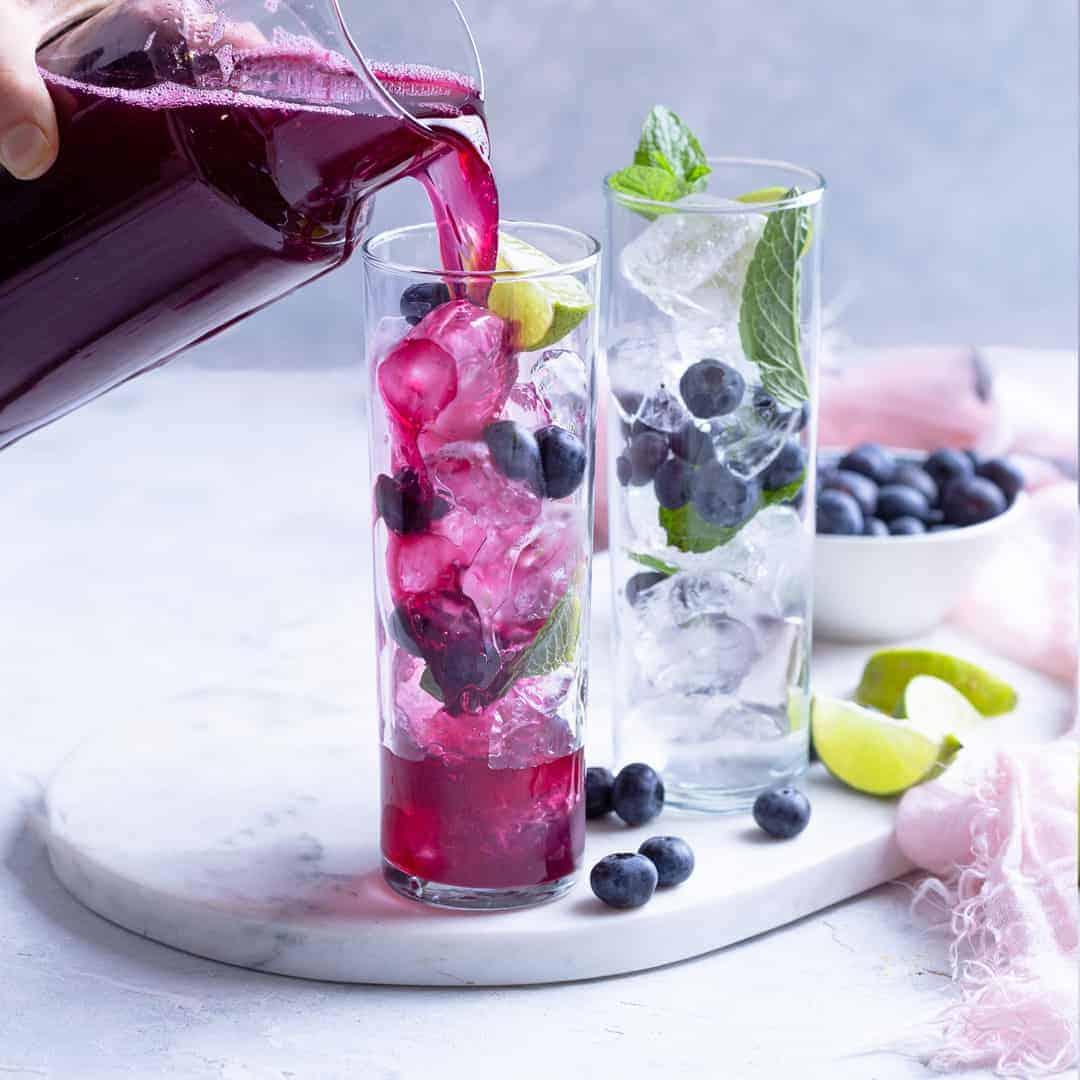 Blueberry Ginger Refresher